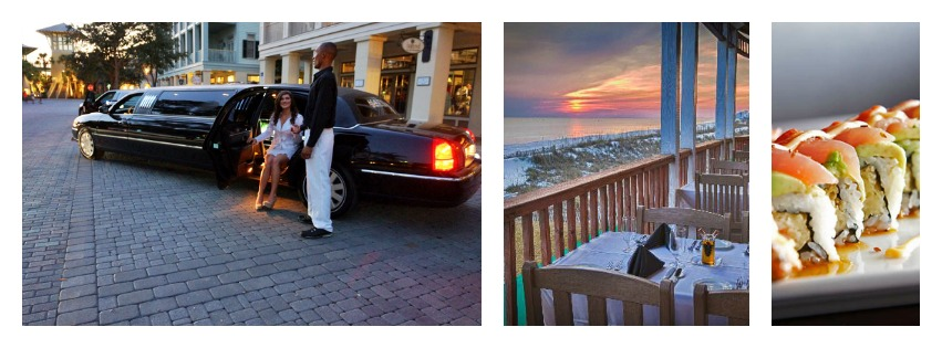 654-Banner Destin Dinner Limo Package